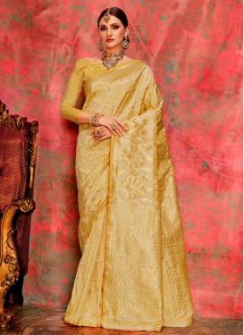 Jacquard Silk Thread Work Contemporary Style Saree