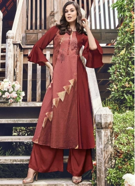 Jacquard Silk Thread Work Readymade Designer Gown