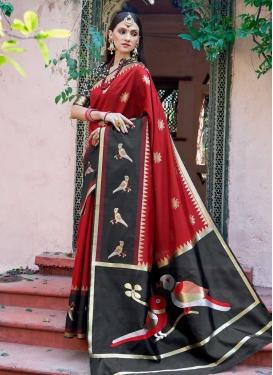 Jacquard Silk Thread Work Trendy Classic Saree
