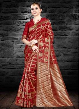 Jacquard Silk Thread Work Trendy Saree