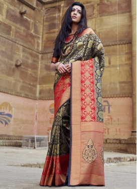 Jacquard Silk Traditional Designer Saree