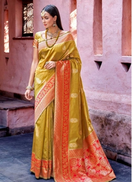 Jacquard Silk Traditional Saree