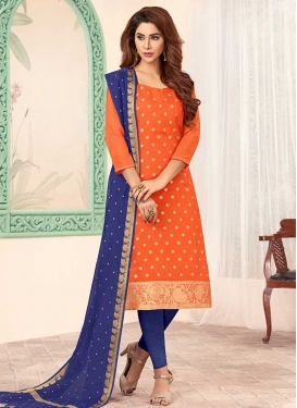 Jacquard Silk Trendy Churidar Salwar Suit