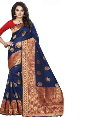 Jacquard Silk Trendy Classic Saree For Ceremonial