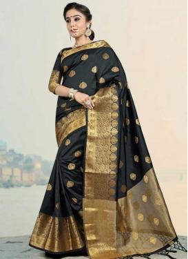 Jacquard Silk Trendy Classic Saree For Festival