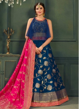 Jacquard Silk Trendy Designer Lehenga Choli