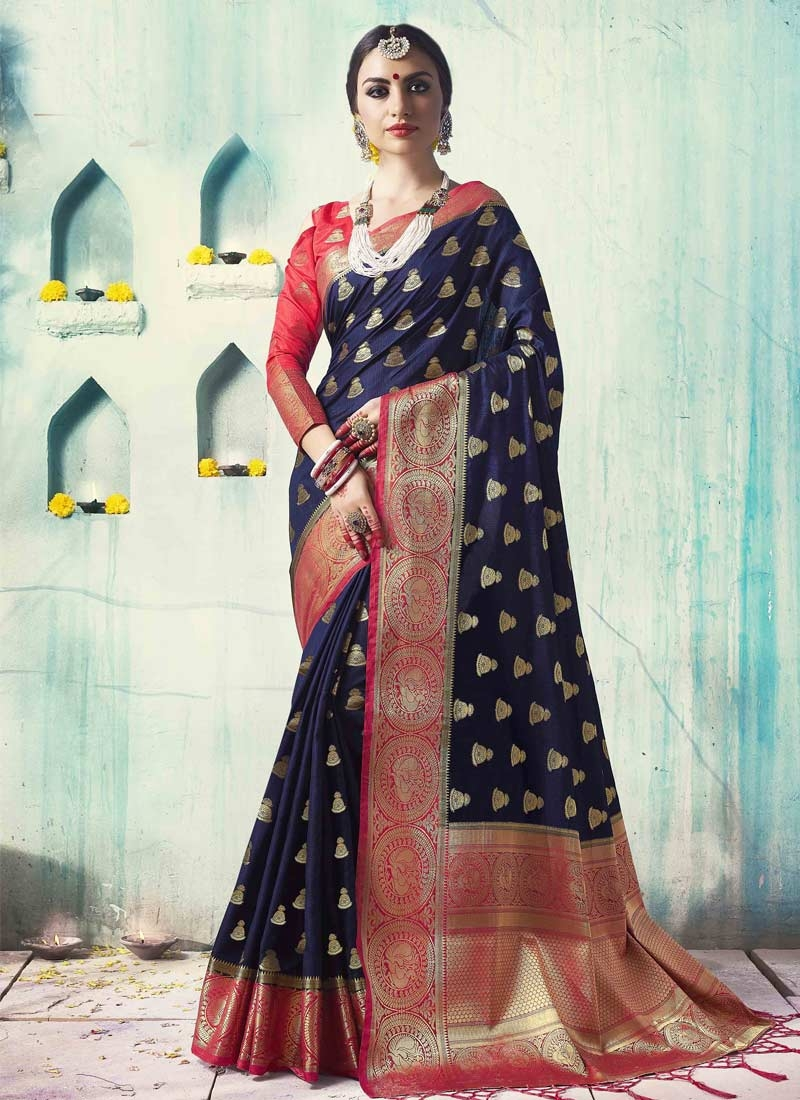 Jacquard Silk Trendy Saree