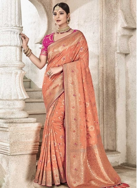 Jacquard Silk Trendy Saree