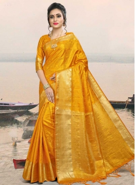 Jacquard Silk Trendy Saree For Ceremonial
