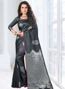 Jacquard Silk Trendy Saree For Festival