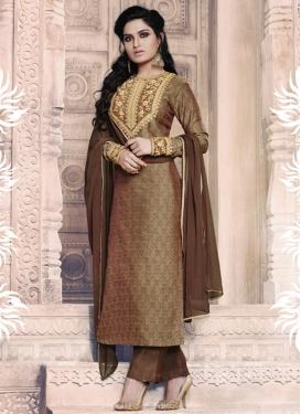Jacquard Trendy Pant Style Suit
