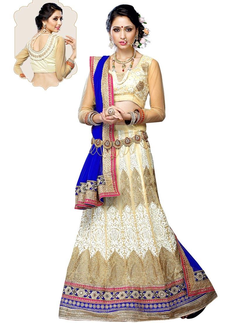 Jazzy Beads And Mirror Work Wedding Lehenga Choli