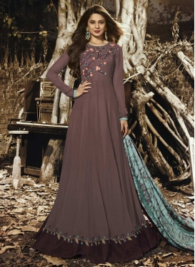 Jennifer Winget Faux Georgette Floor Length Anarkali Salwar Suit