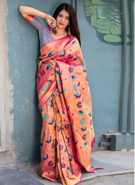 Kanjivaram Silk Contemporary Saree For Ceremonial