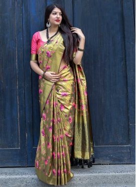 Kanjivaram Silk Contemporary Style Saree