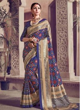 Kanjivaram Silk Contemporary Style Saree For Festival