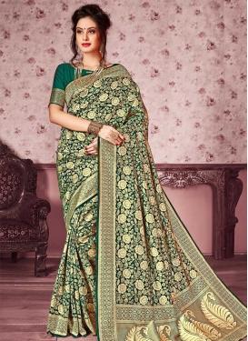 Kanjivaram Silk Designer Contemporary Saree For Festival