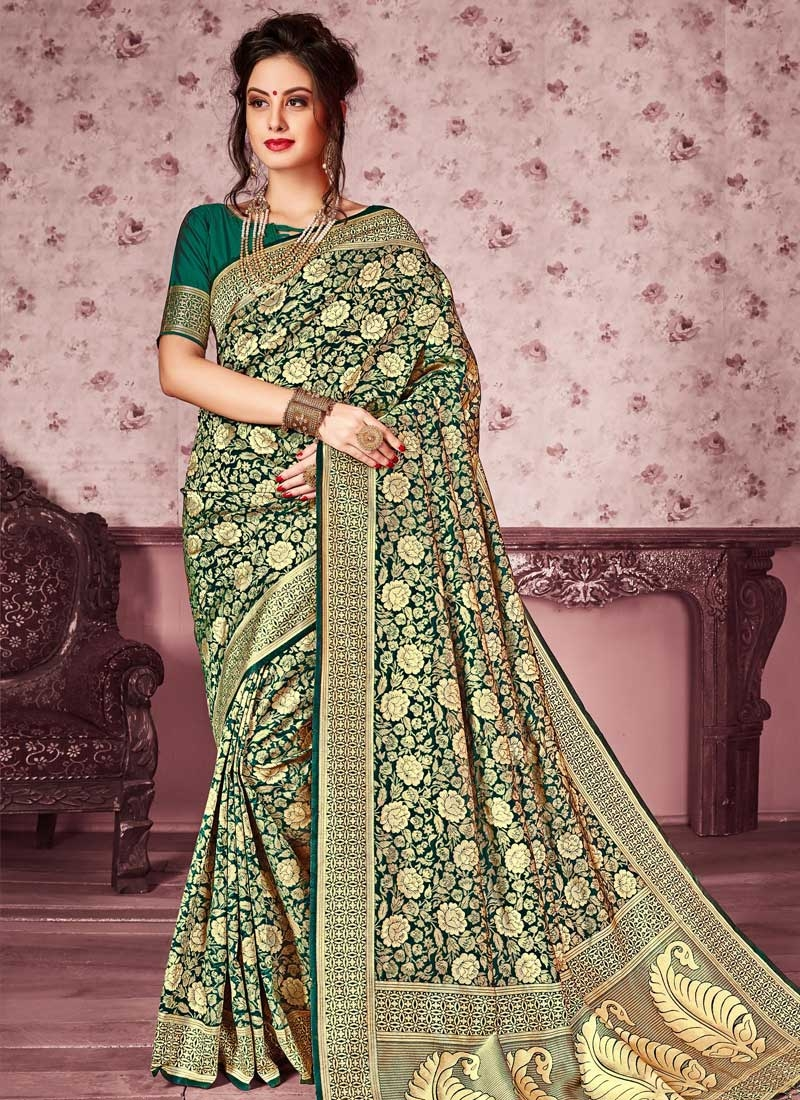 Kanjivaram Silk Designer Contemporary Saree For Festival