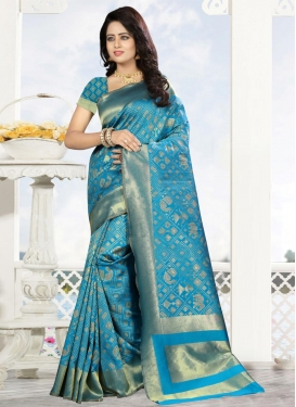 Kanjivaram Silk Designer Traditional Saree For Ceremonial