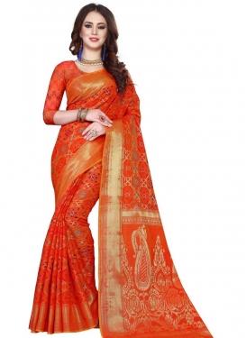 Kanjivaram Silk Thread Work Traditional Designer Saree
