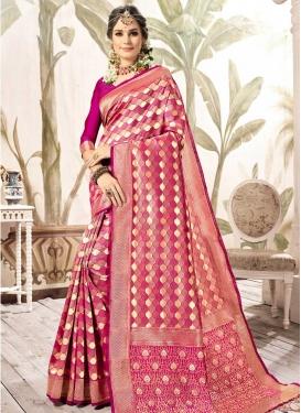 Kanjivaram Silk Thread Work Trendy Classic Saree