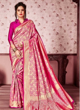 Kanjivaram Silk Thread Work Trendy Saree