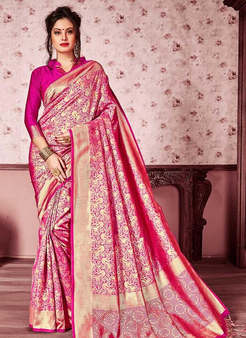 Kanjivaram Silk Thread Work Trendy Saree