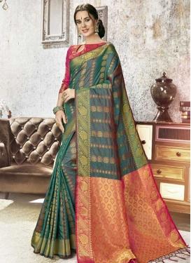 Kanjivaram Silk Traditional Designer Saree For Ceremonial