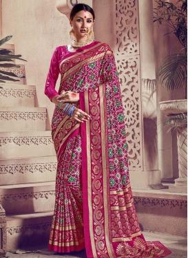 Kanjivaram Silk Traditional Designer Saree For Festival