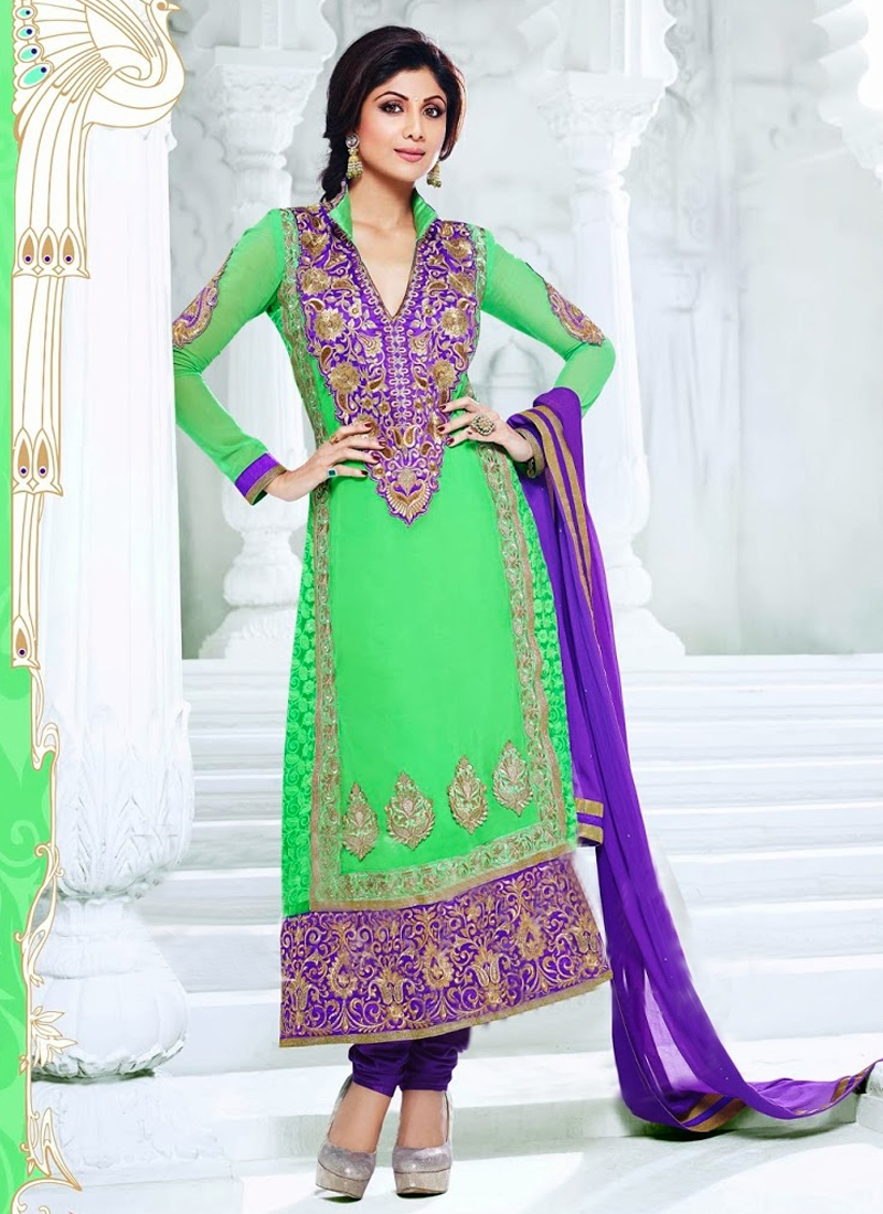 Karachi Enhanced Shilpa Shetty Bollywood Suit