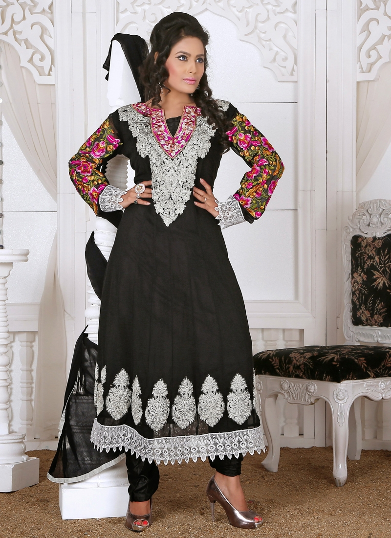 Karachi Work Readymade Churidar Salwar Suit