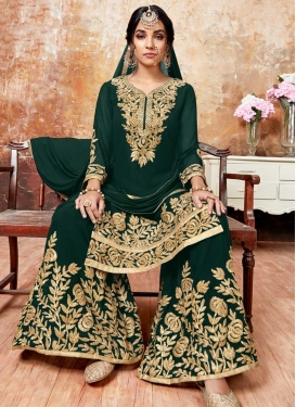 Karachi Work Sharara Salwar Suit