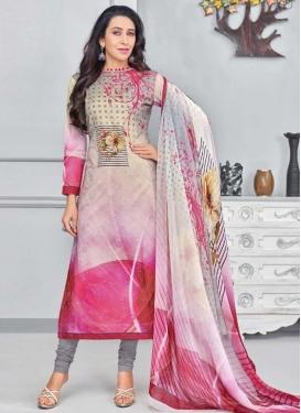 Karisma Kapoor Cotton Pakistani Straight Suit