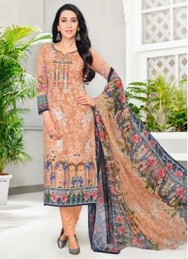 Karisma Kapoor Cotton Satin Pant Style Pakistani Salwar Suit