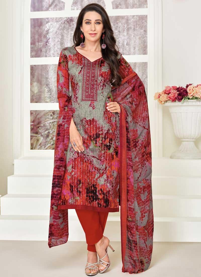 Karisma Kapoor Digital Print Work Pant Style Salwar Suit