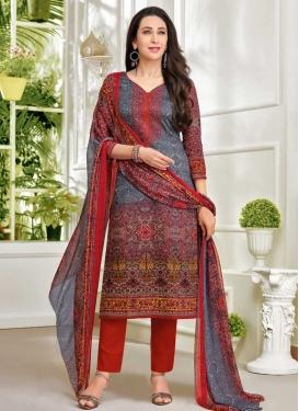 Karisma Kapoor Satin Digital Print Work Pant Style Classic Salwar Suit