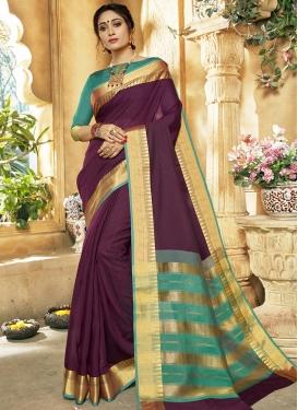 Khadi Silk Contemporary Style Saree