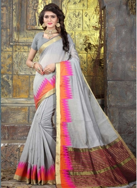 Khadi Silk Contemporary Style Saree