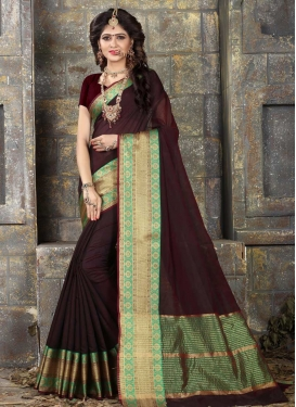 Khadi Silk Thread Work Trendy Classic Saree