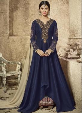 Krystle Dsouza Art Silk Asymmetrical Designer Salwar Suit