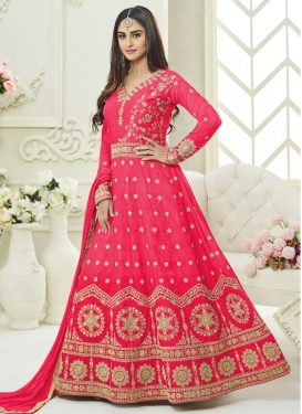 Krystle Dsouza Art Silk Floor Length Anarkali Suit