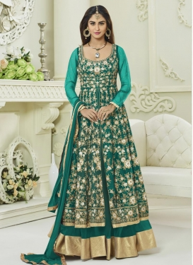 Krystle Dsouza Art Silk Layered Designer Anarkali Suit