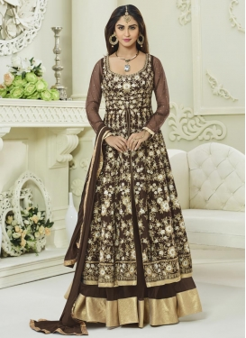 Krystle Dsouza Art Silk Long Length Designer Anarkali Suit