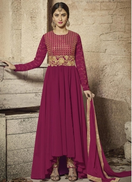 Krystle Dsouza Embroidered Work Asymmetrical Anarkali Salwar Kameez
