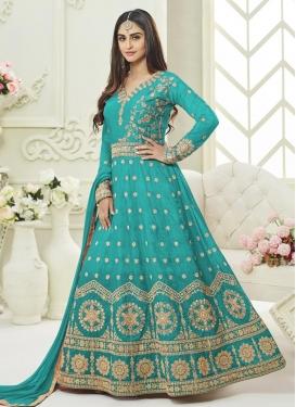 Krystle Dsouza Embroidered Work Floor Length Anarkali Salwar Suit