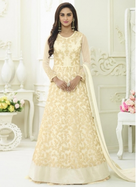 Krystle Dsouza Embroidered Work Long Length Anarkali Salwar Suit
