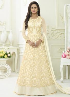 Krystle Dsouza Embroidered Work Long Length Anarkali Salwar Suit