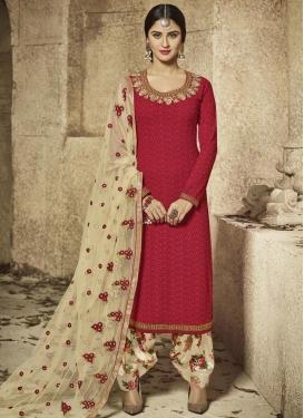 Krystle Dsouza Faux Georgette Designer Patiala Salwar Kameez For Ceremonial
