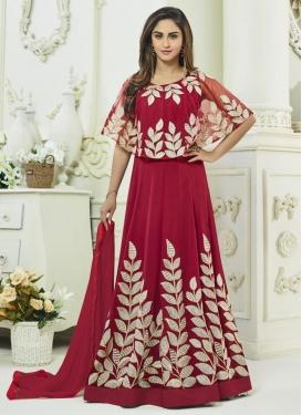 Krystle Dsouza Faux Georgette Long Length Designer Suit