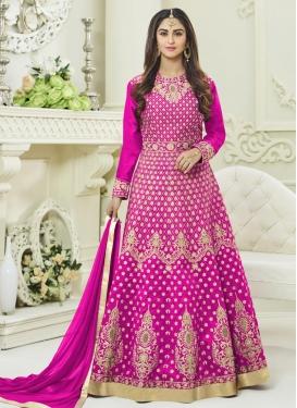 Krystle Dsouza Tafeta Silk Floor Length Anarkali Salwar Suit